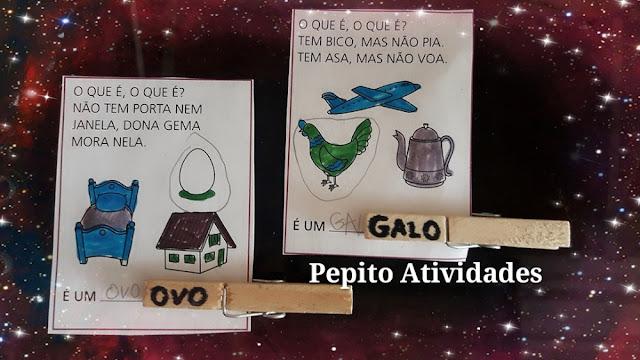 Projeto Folclore Atividade de Alfabetização com Material Concreto