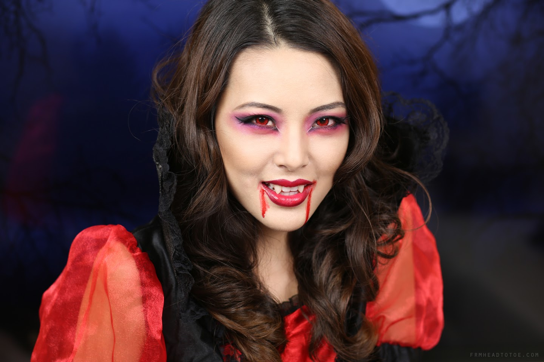 TUTORIAL: Sexy Vampire Makeup   Halloween 2013 - From Head ...