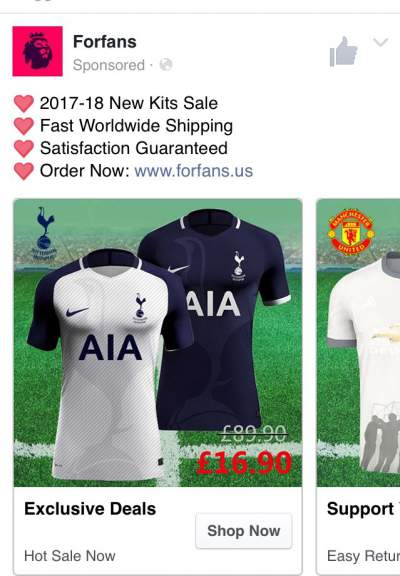 a242285cff3 Incidentally, while I'm showing the website concerned, if you head over  there you can buy an England shirt and the current Tottenham shirt for  £19.99 plus ...