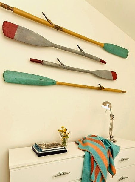 painted wall oars