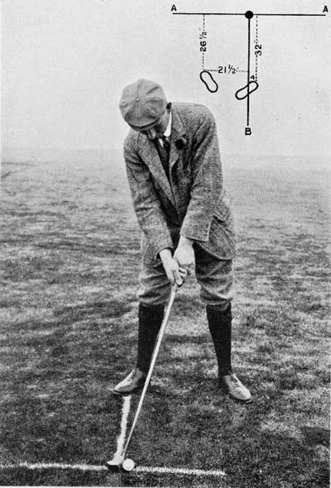 Vardon's setup for a draw