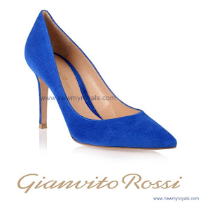 Crown Princess Mary wore Gianvito Rossi Blue Suede Pump