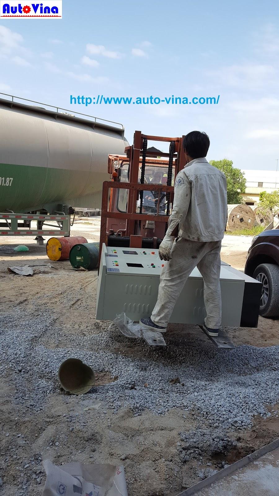 Auto Vina thi công lắp đặt tủ biến tần dàn quay ly tâm sản xuất cọc bê tông dự ứng lực