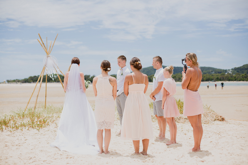 intimate beach elopement noosa