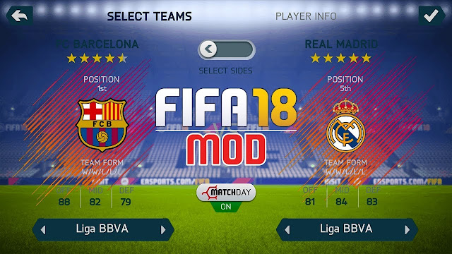 هذا أفضل مود للعبة FIFA 14 للاندرويد باحداث الانتقالات والاطقم  + التعليق الانجليزي