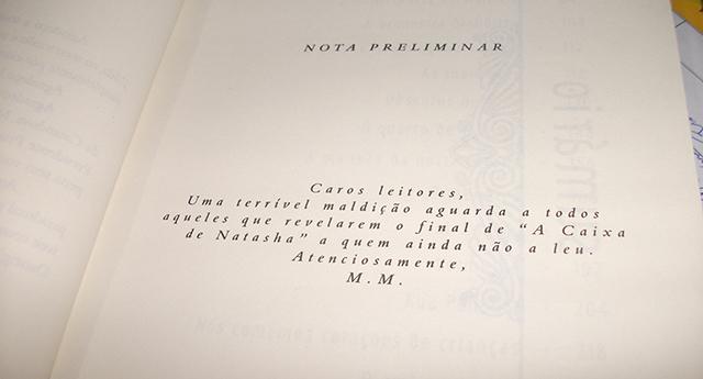 Livro A Caixa de Natasha