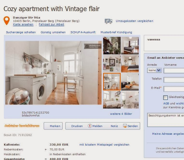 vanessa cozy apartment with vintage flair danziger str 96a 10405. Black Bedroom Furniture Sets. Home Design Ideas