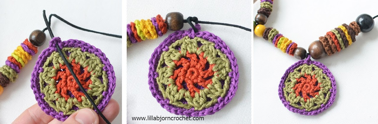 AfAfrican Mandala Necklace - free crochet pattern by Lilla Bjorn Crochet