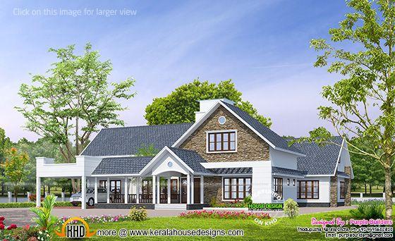 bungalow design, Kerala India