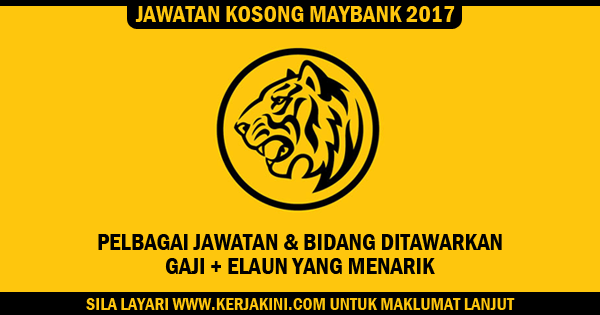 jawatan kosong maybank 2017