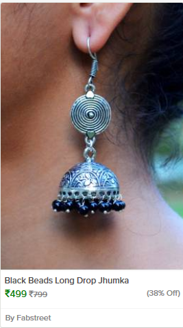 https://kraftly.com/product/black-beads-long-drop-jhumka-1473843240