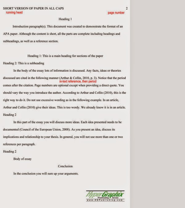 Essay Writing Tips APA sample essay