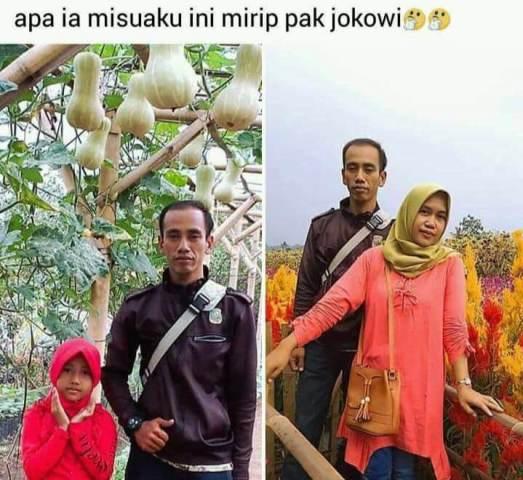 Viral, Perempuan Asal Pandeglang Posting Foto Suaminya Mirip Jokowi