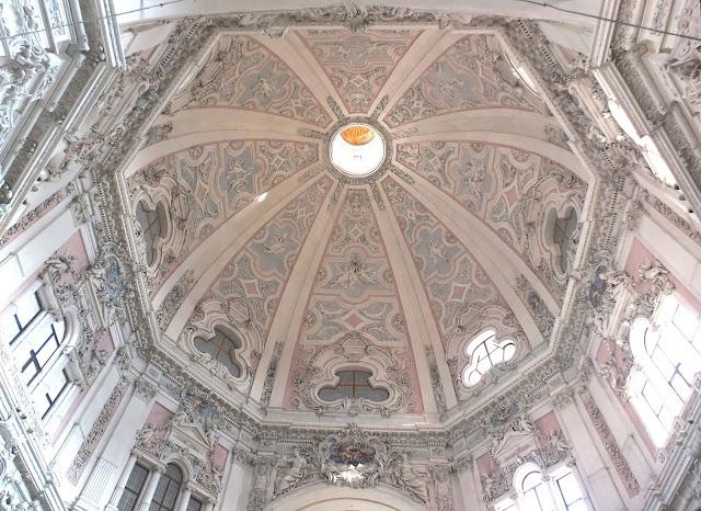 Cupola of the Santuario della Madonna del Popolo, Cherasco, Piedmont, Italy.