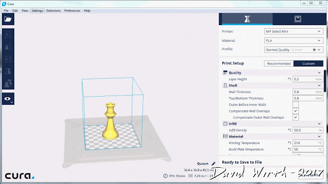 cura settings, version 15, version 2.3, cura slicer