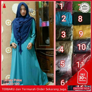 GMS096 SFLXP096G59 Gamis Jersey Polos Tebal Busui Dropship SK1741028551