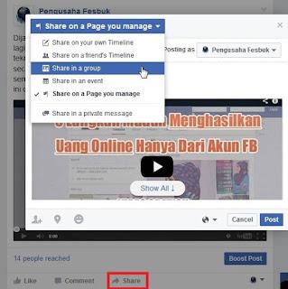 share cara jualan online facebook