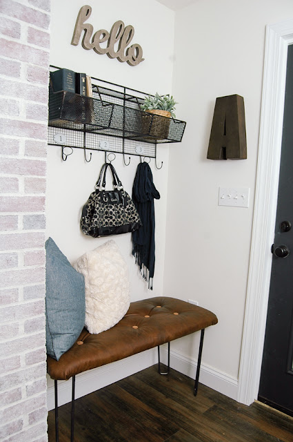 Thrifty mudroom decor