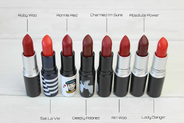 MAC Red Lipsticks Review