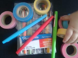 masking tape et stylo