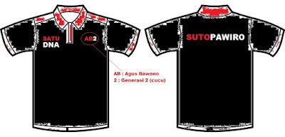 Rencana Design Kaos Trah Sutopawiro
