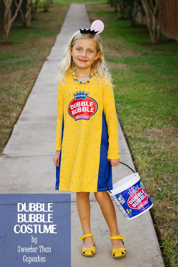 Sweeter Than Cupcakes Bubble Gum Girl Halloween Costume
