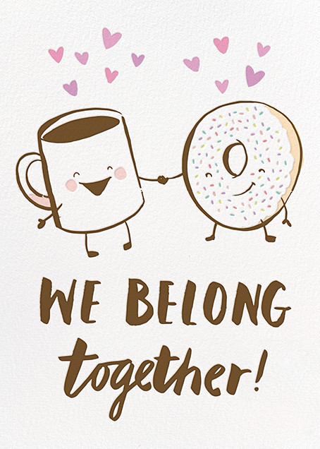 Food-Themed Valentine's Day Cards -- We Belong Together
