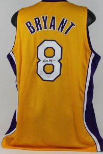 3601925a237 Kobe Bryant Autographed Jersey - Full Name  8 Yellow - Collectible ...