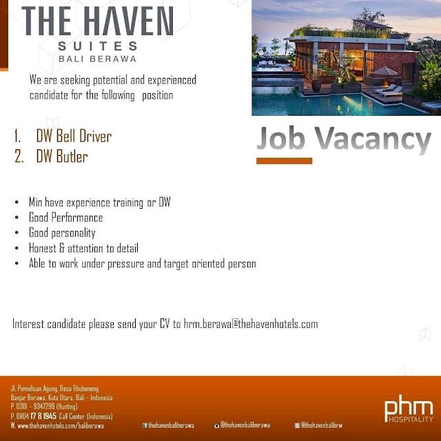 Lowongan kerja The Haven Suites Bali Berawa 2018