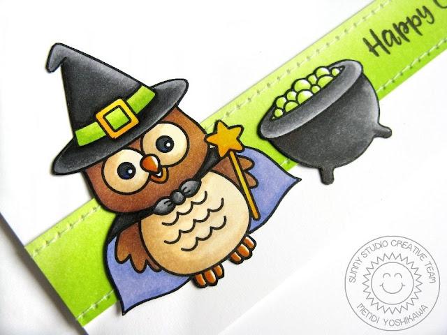 Sunny Studio Stamps: Happy Owl-o-ween & Halloween Cuties Card by Mendi Yoshikawa