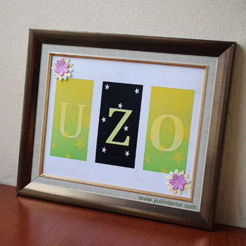 Personalized Kids Name Wall Frame
