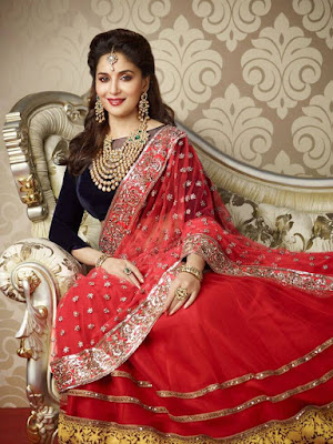 Madhuri Dixit looks gorgeous even in a desi outfits. .