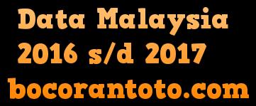 Data Pengeluaran Toto Malaysia 2016-2017