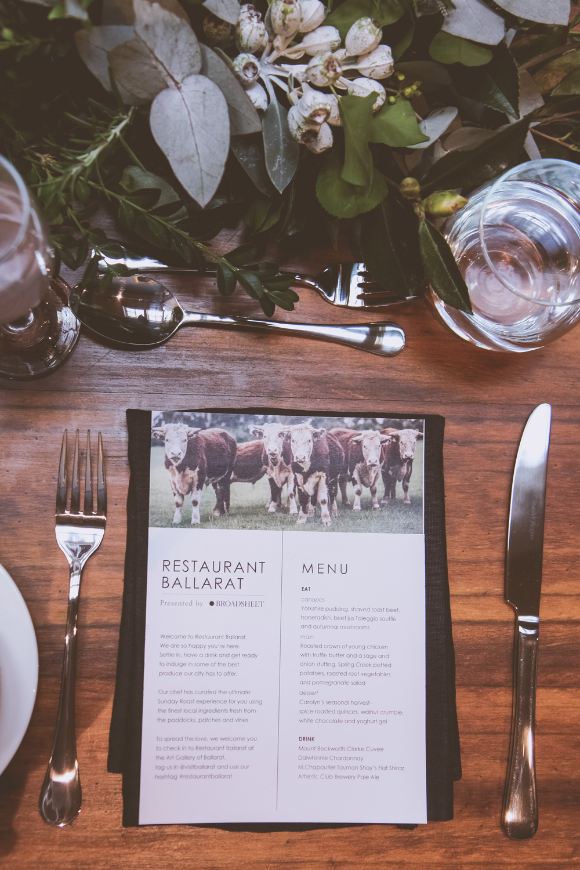 Restaurant Ballarat at the Art Gallery of Ballarat presented by Broadsheet Melbourne