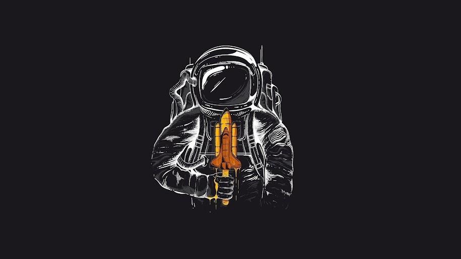 Minimalist Astronaut 4k Wallpaper 56