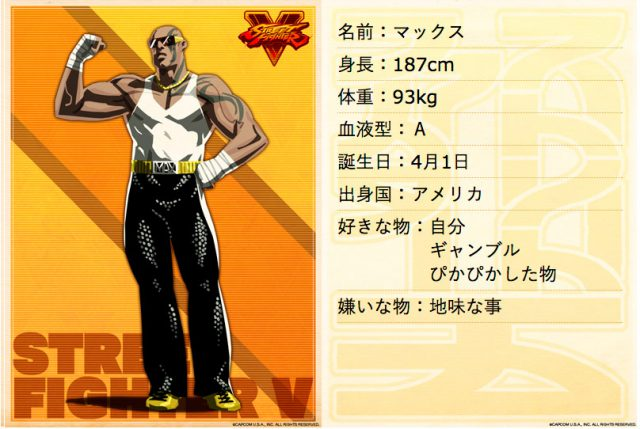 Max, da abertura de Street Fighter II