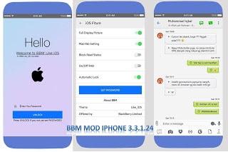 Download BBM Mod Iphone Style IOSAPK Versi 3.3.1.24 Terbaru 2017