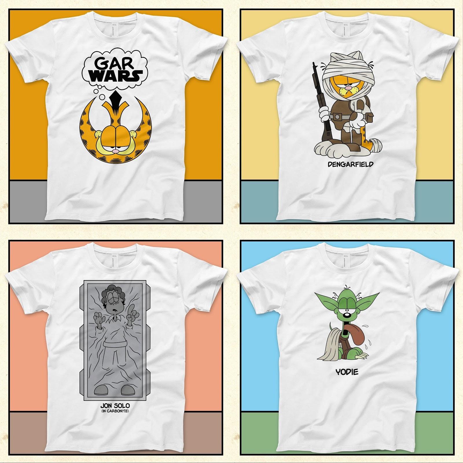"ad3c1533 The Blot Says...: ""Gar Wars"" Star Wars x Garfield T-Shirt Collection ..."