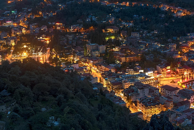 Sapa charming in night