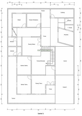 Denah Rumah Islami Minimalis 2 Lantai