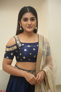 Niveda Thomas in Lovely Blue Cold Shoulder Ghagra Choli Transparent Chunni ~ Exclusive Celebrities Galleries 027