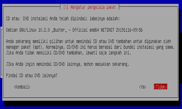 Instalasi Debian - Mengatur pengolahan paket