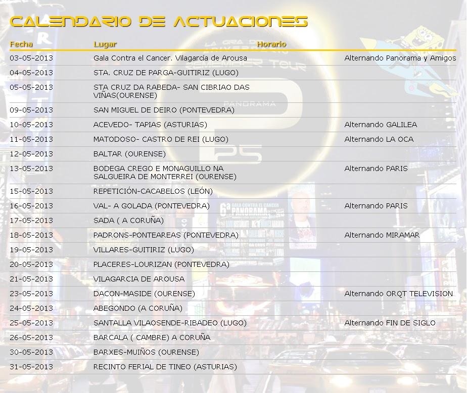 Orquesta Panorama Calendario.Orquesta Panorama Calendario De Actuaciones