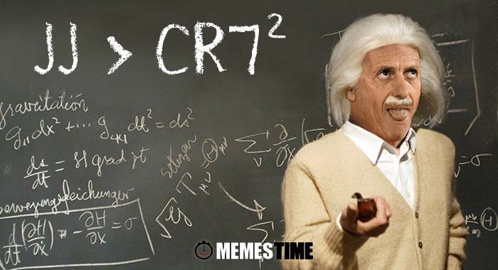 Memes Time - Jorge Jesus sobre o elogio de superinteligente por parte de Cristiano Ronaldo - Espelho, espelho meu existe alguém mais inteligente do que eu?