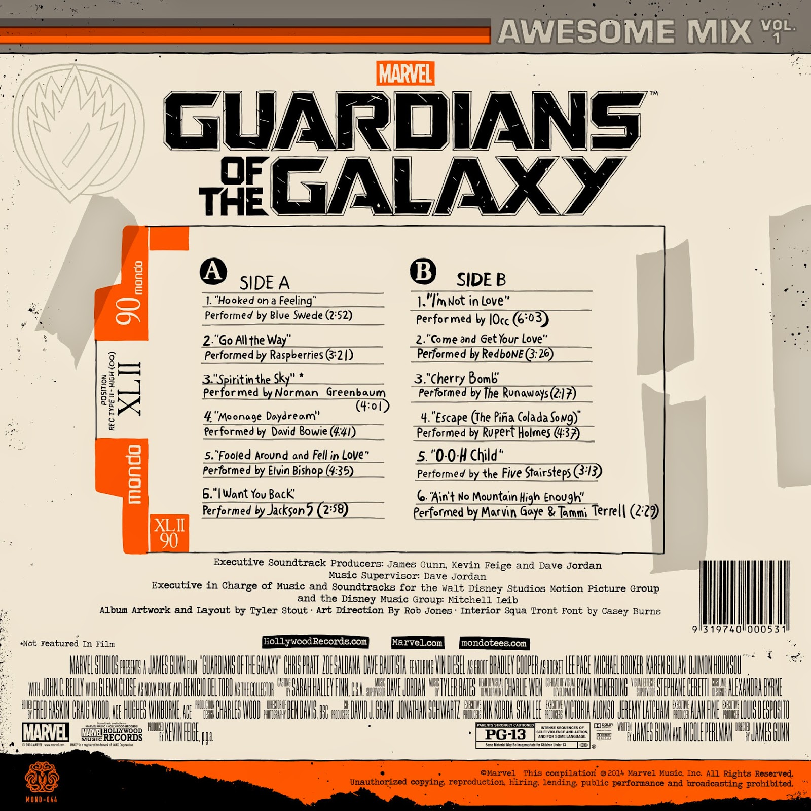 Guardians Of The Galaxy Music