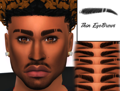 The Black Simmer Eyebrows By Xxblacksims