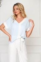 Bluza dama StarShinerS albastra-deschis eleganta cu croi larg