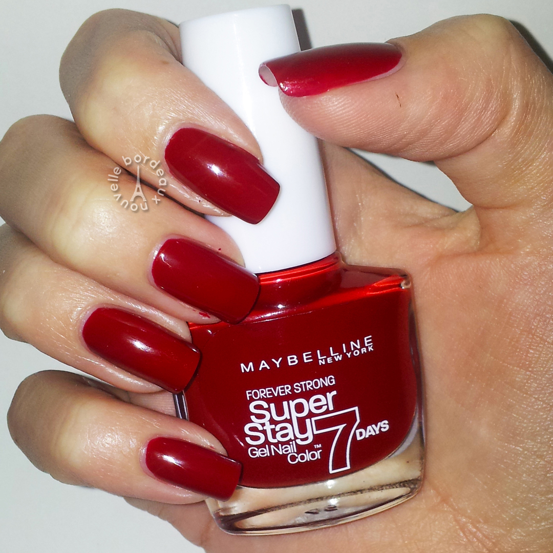 Maybelline Super Stay 7 days | Review y Swatch - Bordeaux Nouvelle