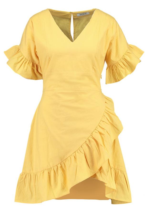 Vestido amarillo Glamorous
