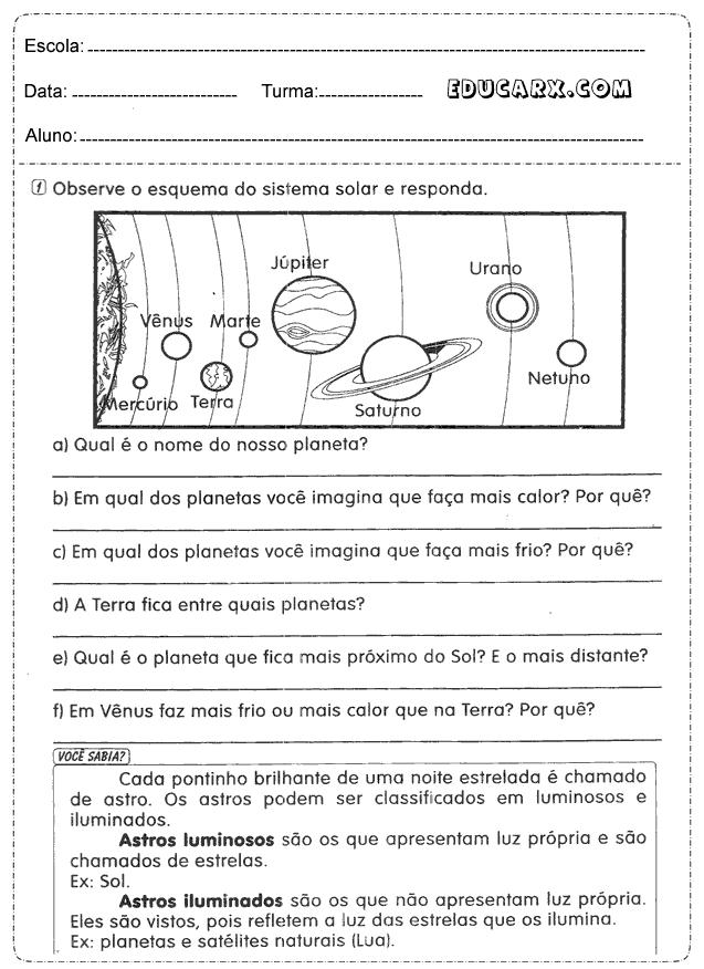 Extremamente Educar X: Atividades para o dia da Terra educação infantil HB87